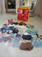 Build A Bear Closet Wardrobe LOCKER w Girl Clothes Shoes Skate Board Glasses +++