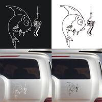 Neu Fisch Auto`Abziehbild Vinyl aufkleber Karikatur Auto Aufkleber Sticker Weiß