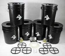 6 Bucket 5 Gallon Deep Water Culture (DWC) Hydroponic System Kit Grow Bucket