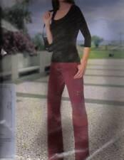 Damen Hose Gr M 40/42 Jeans J. Espere rotbraun ladies 100% Baumwolle Neu