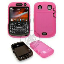 Blackberry Bold 9930 9900 IMPACT RESISTANT Rubberized Phone Cover Hot Pink Black