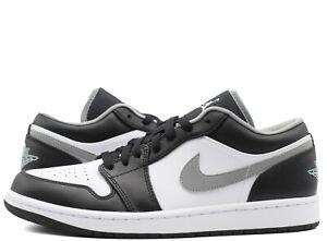 Nike Air Jordan 1 Low Black Grey White 553558-040 Mens Gs New