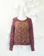 Anthropologie MOTH Crayon Sweater Pullover Women's S Chunky LS Casual Winter