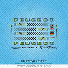 Peugeot Tandem Bicycle Decals - Transfers - Stickers - Green & Black - Set 767