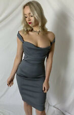 Vivienne Westwood Corset Dress Vintage 1999 GOLD LABEL Evening Fitted Pinstripe