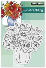 New Cling Penny Black RUBBER STAMP CENTERPIECE FLOWERS SPRING free us shp