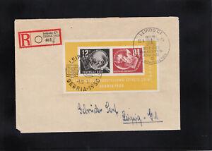 DDR, Reco Brief mit EF von Block 7 aus Leipzig