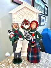 Byers' Choice Caroler Adult Couple With Nutcrackers and Christmas Tree 🎄