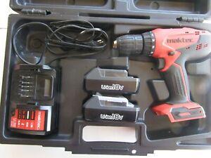 MT081E Maktec Akku-Schlagbohrschrauber 18 V im Koffer Inklusive 2 Akkus und Ladeger/ät