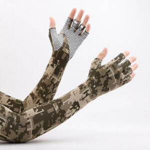 1 Pair Cooling Arm Sleeves Gloves Cover UV Sun Protection Outdoor Sports For Men