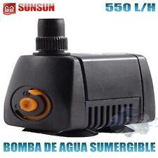 Bomba sumergible de 550l/h 10W Hmax 0 9m para acuario fuente estanque