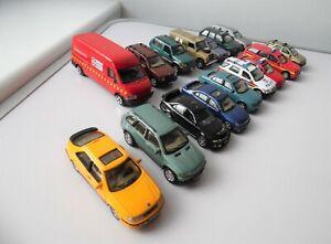 CORGI & HONGWELL MERCEDES LANDROVER JAGUAR BMW 1/72 MODEL CARS & CORGI VAN