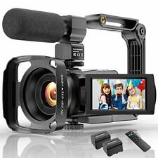 Video Camera Camcorder 4K 48MP Ultra HD YouTube Vlogging IR Night...