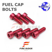 FRW Red Fuel Cap Bolts Set For Kawasaki Ninja 300R 13-16 13 14 15 16