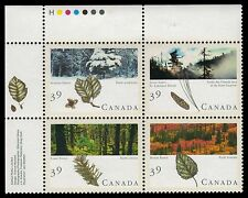 CANADA 1286a - Majestic Forests of Canada Se-tenant Block (pa27581)