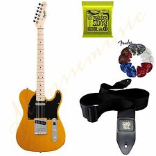 New Fender Squier Affinity Electric Guitar Telecaster Maple Butterscotch Blonde