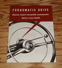 Original 1952 Ford Fordomatic Drive Sales Brochure 52