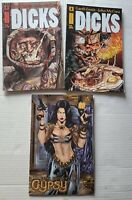Avatar Comics Lot; Gypsy Issue 1 Rearte, and Dicks 4 &6