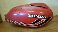 Vintage Red Honda Motorcycle Gas Tank