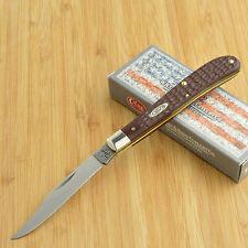 Case XX Brown Delrin Slimline Trapper Folding Pocket Knife 00135 61048 SS