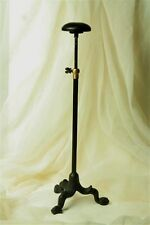 "ADJUSTABLE Cast Iron 12"" - 20"" SHOPKEEPERS HAT WIG DISPLAY STAND MILLINERY"