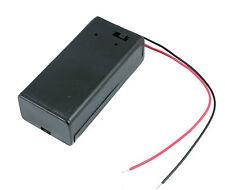 9V PP3 ALLEGATO Batteria Supporto Scatola interruttore on / OFF CON CAVI
