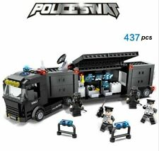 437 PCS Police SWAT Command Vehicle uniforms Fit Lego Building Blocks Toys Gifts