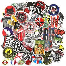 Stickers Punk Métal Guitare  Rock and Roll Rétro Vintage 110PCS  Autocollants