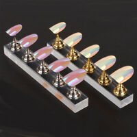 Nail Art Display Stand Practice Training False Nail Tip Holder Magnetic Manicure
