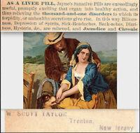 Trenton NJ 1800's Taylor Druggist Hysteria Liver Depression Headache Trade Card