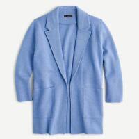 J Crew Women's Sophie open-front sweater-blazer Item J0244 Blue Size 2X $148