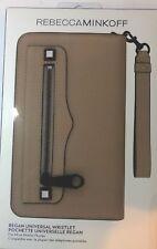 Rebecca Minkoff Regan Universal Wristlet Fits Most Phone -Nude Leather/Black NEW