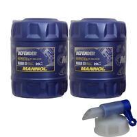 40L MANNOL Defender 10W-40 API SL/CF Öl Motoröl MN7507-20 inkl. Auslaufhahn