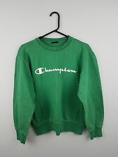 VTG RETRO WOMENS GREEN CHAMPION ATHLETIC SPORTS OVERHEAD SWEATSHIRT JUMPER UK M