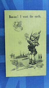 WW1 Bamforth Military Comic Postcard 1914 1918 Anti Kaiser Globe Toy Soldiers