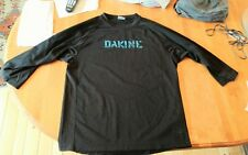 DAKINE Mens 3/4 Sleeve Cycling Mountain Biking Jersey Large BLACK BLUE