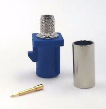 10pcs Fakra Straight Plug Crimp for RG58 Key Code: C (Blue)