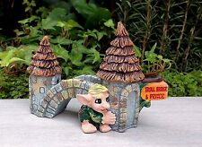 Miniature Dollhouse FAIRY GARDEN ~ MEDIEVAL TIMES Troll Toll Bridge ~ NEW