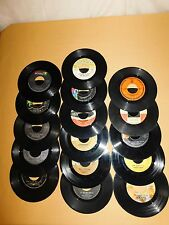 VINTAGE ROCK N ROLL MUSIC 16 OLD 45 RPM RECORDS