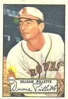 1952 Topps Baseball #82 Duane Pillette St. Louis Browns Baseball Card