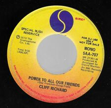 45RPM CLIFF RICHARD POWER TO ALL OUR FRIENDS Sire mono/stereo promo unplayed NM