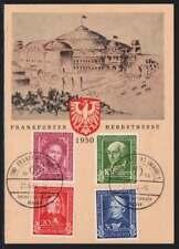 Bund Nr. 117-120 Schmuckkarte mit SST FRANKFURT 21.9.50 (41367)