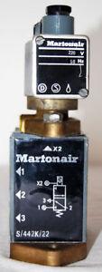 Martonair S-442K-22 / S442K22 Pneumatik Magnetspulen Ventil 220V/50HZ OK224