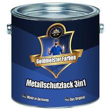 Goldmeister Farben Metallschutzlack 3in1 Grau 2,5L 5L 10L RAL 7035 Lichtgrau