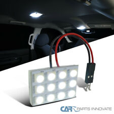 1x 12-SMD High Power White T10 LED Panel Car Interior Dome Light Lamp