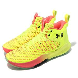 Under Armour HOVR Havoc 4 UA Yellow Red Men Basketball Shoes 3025993-302