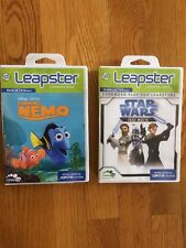 Leap Frog Leapster Games Lot Of 2 Finding Nemo & STAR WARS Jedi Math