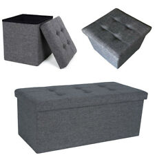 Awesome Grey Storage Ottomen For Sale Ebay Andrewgaddart Wooden Chair Designs For Living Room Andrewgaddartcom