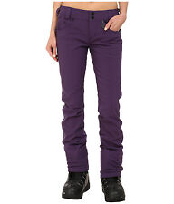 New Womens Volcom Battle Stretch Ski Snowboard Pants Waterproof Medium Purple