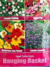 4 IN 1 HANGING BASKET SEED COLLECTION  MULTI PACK 1890 HIGH QUALITY FLOWER SEEDS